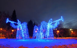 Art composition Angels in Kemerovo city Royalty Free Stock Photos