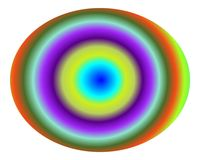 art concentric gradient multicolor pop Στοκ Φωτογραφίες