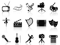 Art concept icons set Royalty Free Stock Photos