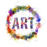 Art concept, watercolor splashes as a sign Royalty Free Stock Photos