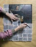 Art conservator Stock Photos