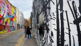 Art contemporain, divers et conceptuel urbain de rue image libre de droits