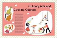 Art And Cooking Courses Poster culinario libre illustration