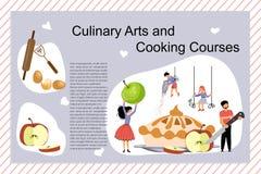 Art And Cooking Courses Poster culinario ilustración del vector