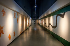 Art corridor in exhibition hall Stock Images