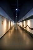 Art corridor in exhibition hall. Art corridor with spotlight in an exhibition hall Stock Photos