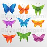 Art créatif de papier de papillon d'origami Photo stock
