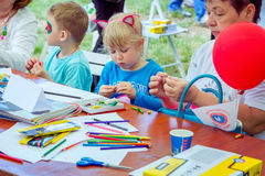 Art and craft children activity Royalty Free Stock Photography