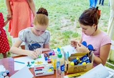 Art and craft children activity Royalty Free Stock Images
