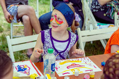Art and craft children activity Royalty Free Stock Image