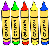 Art and craft crayons Stock Photos