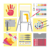 Art and craft elements � Oil painting Stock Photo