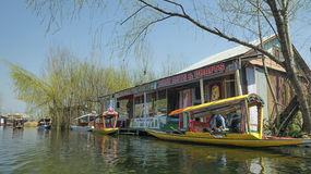 Art & craft shops at Dal Lake, Kashmir, India Stock Photos