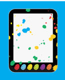 Art and Craft Tablet PC for Kids and Children Royalty Free Stock Photos