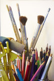 Art craft tools Royalty Free Stock Images