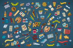 Art and craft vector symbols and objects Stock Images