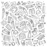 Art and craft vector symbols and objects Stock Image