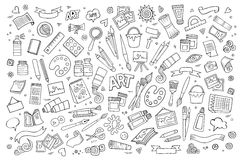Art and craft vector symbols and objects Royalty Free Stock Photography