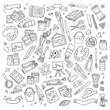 Art and craft vector symbols and objects Stock Photography