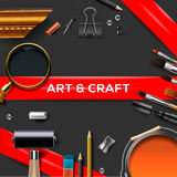 Art and crafts template Stock Images