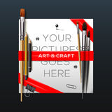 Art and crafts template Royalty Free Stock Photos
