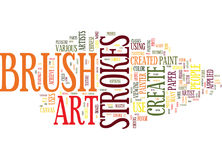 Art Created By Creative Brush Strokes Word Cloud Concept Stock Photos