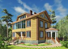 3 d render the house royalty free illustration