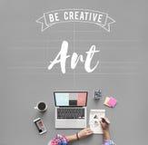 Art Creation Craft Exhibition Imagination-Stijlconcept Stock Foto's