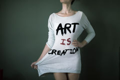 Art is creation Royalty Free Stock Images