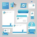 Art creative drawing corporate identity style set with envelope, blank, business card and disk. Royalty Free Stock Image