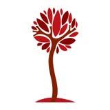 Art creative illustration of tree, stylized eco symbol. Insight Stock Photography