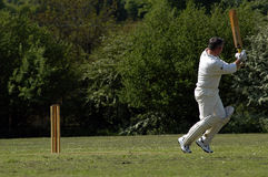 The art of Cricket. Village Cricket in England royalty free stock images