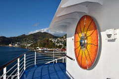 Art on cruise ship deck Royalty Free Stock Photography