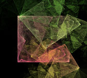 Art Cubic Space abstrato Fotografia de Stock