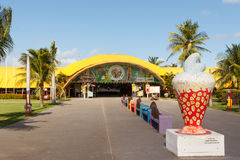 Art and cultural center J Inacio on beach Atalaia, Aracaju, Serg Royalty Free Stock Images