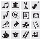 Art Culture icon. Vector Art Culture and creativity set Royalty Free Stock Photography