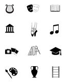 Art and culture icon set. Stock Photos