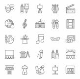 Art & culture, icons, monochrome, outline. Stock Photos