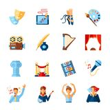 Art And Culture Icons Set Royalty Free Stock Image