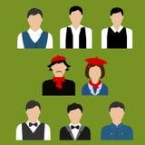 Art and culture professions flat avatars Stock Photos