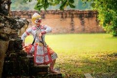 Art culture Thailand Dancing in masked khon in literature ramayana,Thai classical monkey masked, Khon,Thailand stock photos