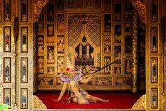Art culture Thailand Dancing in masked khon in literature ramayana,Thai classical monkey masked, Khon,Thailand stock photo