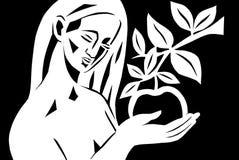 Art cut. Eva.Decision.The art of papercutting.Art cut Royalty Free Stock Photos