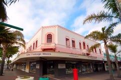 Art déco construisant dans la ville de Napier Photographie stock