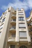 Art déco construisant la façade à Nice. La France Image libre de droits
