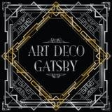 Art déco gatsby Image stock