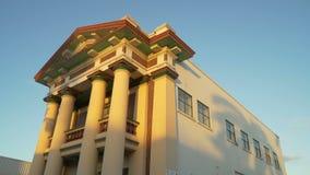 Art déco maçonnique de hall construisant dans Mackay, Australie, mouvement haut d'inclinaison banque de vidéos