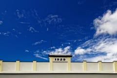 Art déco que construye, Takaka, bahía de oro, Nueva Zelanda imágenes de archivo libres de regalías
