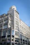 Art déco som bygger i Prague, Tjeckien Royaltyfri Foto