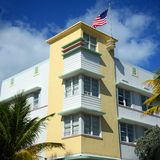 Art déco utformar Avalon i Miami Beach Arkivbild